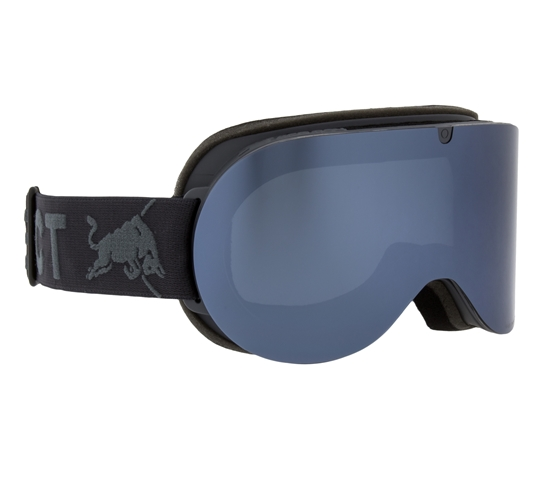 Obrázek z lyžařské brýle RED BULL SPECT Goggles, BONNIE-008, matt light blue frame/bright blue headband, lens: silver snow CAT3, brown with silver mirror