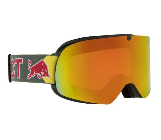 Obrázek z lyžařské brýle RED BULL SPECT Goggles, TRANXFORMER-007, matt olive green frame/olive green headband, lens: red snow CAT2, orange with red mirror