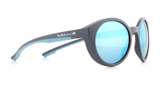 Obrázek z sluneční brýle RED BULL SPECT Sun glasses, SNAP-005P, anthracite, light blue, smoke with blue flash POL, 52-21-145, AKCE