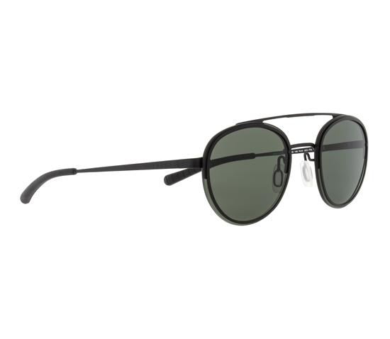 Obrázek z sluneční brýle SPECT Sun glasses, CORALBAY-003P, black, black, green POL, 53-20-140
