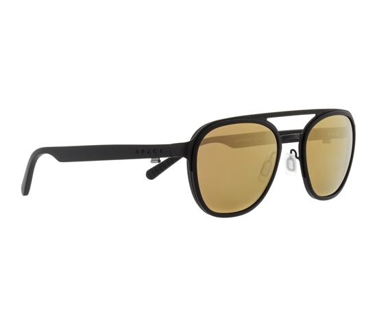 Obrázek z sluneční brýle SPECT Sun glasses, CLIFTON-003P, black, brown with bronze mirror POL, 52-22-145