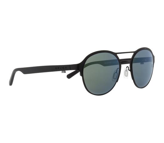 Obrázek z sluneční brýle SPECT Sun glasses, CHELSEA-001P, black, smoke with green mirror POL, 51-21-145