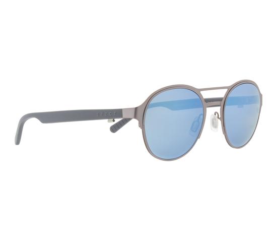 Obrázek z sluneční brýle SPECT Sun glasses, CHELSEA-002P, silver, smoke with blue mirror POL, 51-21-145