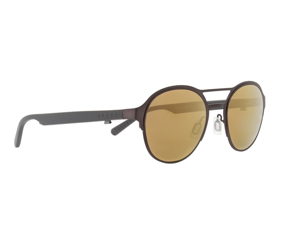 Obrázek z sluneční brýle SPECT Sun glasses, CHELSEA-003P, dark brown, brown with bronze mirror POL, 51-21-145