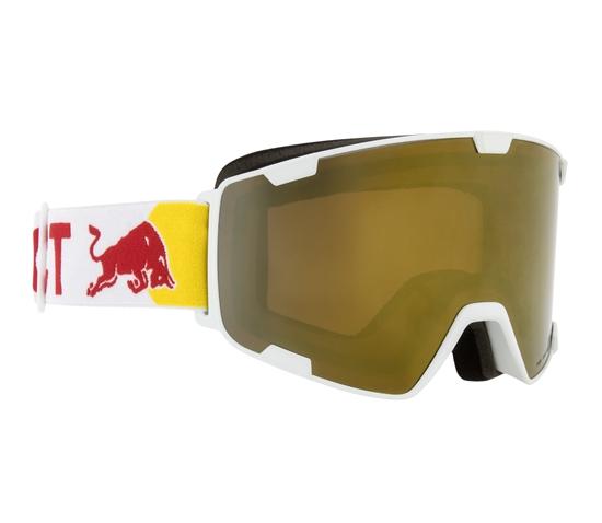 Obrázek z lyžařské brýle RED BULL SPECT Goggles, PARK-005, matt red frame/white headband, lens: gold snow CAT3