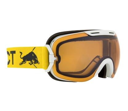 Obrázek lyžařské brýle RED BULL SPECT Goggles, SLOPE-004, matt white frame/yellow headband, lens: cloudy snow CAT1
