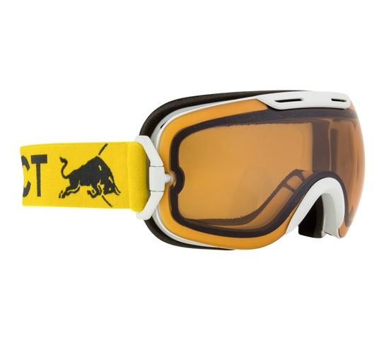Obrázek z lyžařské brýle RED BULL SPECT Goggles, SLOPE-004, matt white frame/yellow headband, lens: cloudy snow CAT1