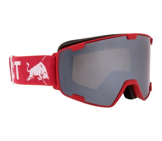 Obrázek z lyžařské brýle RED BULL SPECT Goggles, PARK-004, matt red frame/red headband, lens: silver snow CAT3