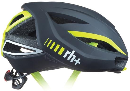 Obrázek z helma RH+ Lambo, matt black/shiny yellow fluo