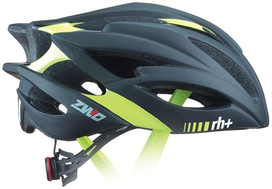 Obrázek z helma RH+ ZW0, matt black/shiny yellow fluo, AKCE