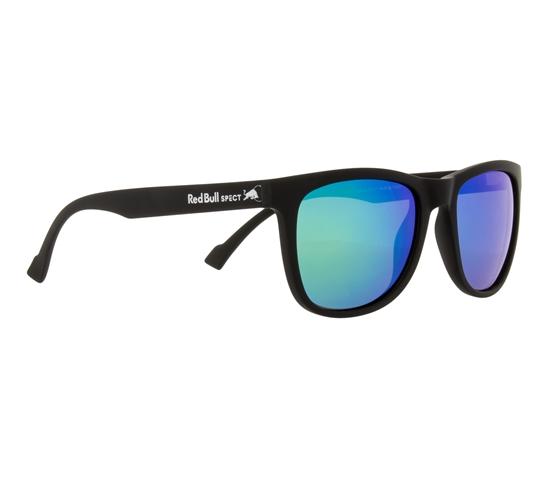 Obrázek z sluneční brýle RED BULL SPECT Sun glasses, LAKE-004P, black, smoke with green mirror POL, 54-19-145