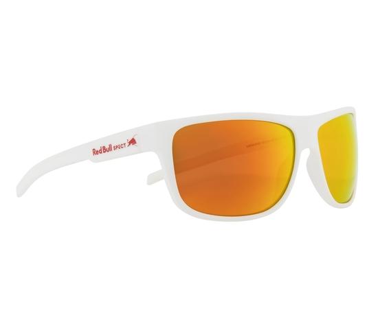 Obrázek z sluneční brýle RED BULL SPECT Sun glasses, LOOM-004P, white, brown with red mirror POL, 62-14-130