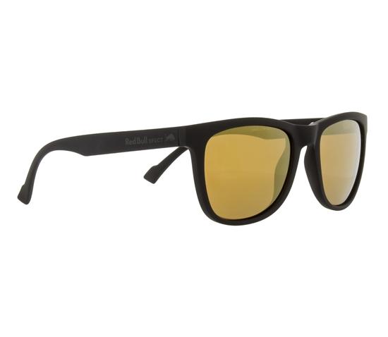 Obrázek z sluneční brýle RED BULL SPECT Sun glasses, LAKE-002P, black, brown with gold mirror POL, 54-19-145