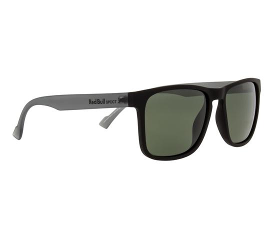 Obrázek z sluneční brýle RED BULL SPECT Sun glasses, LEAP-004P, black, green POL, 55-17-145