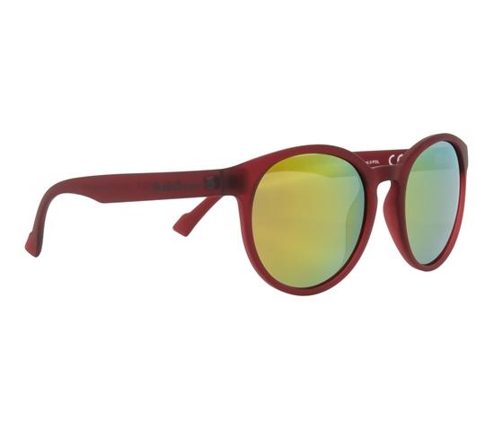 Obrázek z sluneční brýle RED BULL SPECT Sun glasses, LACE-002P, transparent red, smoke with orange mirror POL, 53-20-145