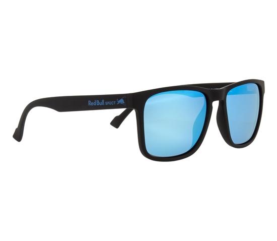 Obrázek z sluneční brýle RED BULL SPECT Sun glasses, LEAP-003P, black, smoke with ice blue mirror POL, 55-17-145
