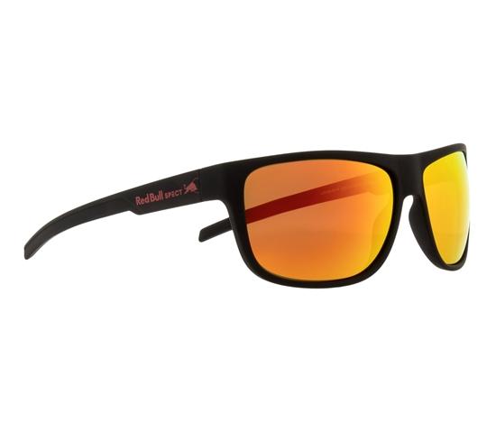 Obrázek z sluneční brýle RED BULL SPECT Sun glasses, LOOM-001P, black, brown with red mirror POL, 62-14-130