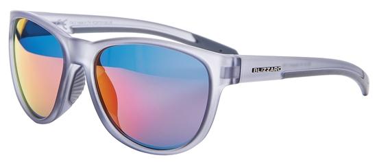 Obrázek z sluneční brýle BLIZZARD sun glasses PCSF701130, rubber transparent smoke grey, 64-16-133