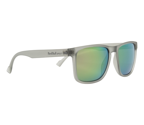 Obrázek z sluneční brýle RED BULL SPECT Sun glasses, LEAP-002P, transparent light grey, smoke with olive mirror POL, 55-17-145