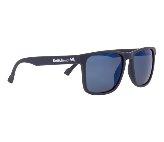 Obrázek z sluneční brýle RED BULL SPECT Sun glasses, LEAP-001P, dark blue, smoke with blue mirror POL, 55-17-145