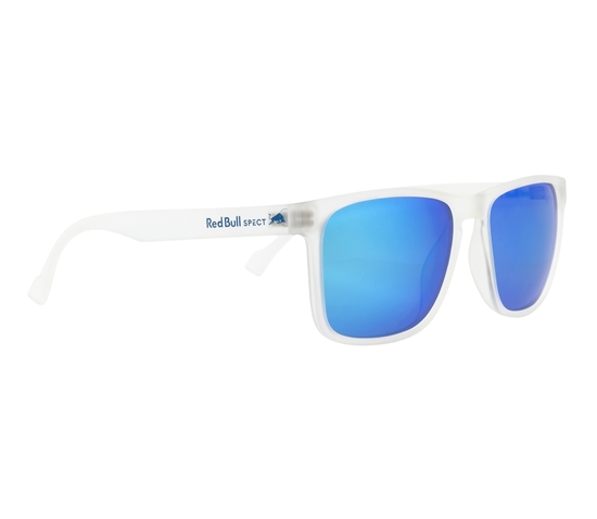 Obrázek z sluneční brýle RED BULL SPECT LEAP-005P, transparent clear/smoke with turquoise mirror POL, 55-17-145