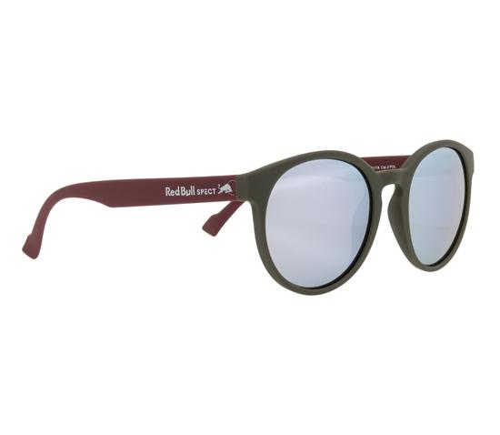 Obrázek z sluneční brýle RED BULL SPECT Sun glasses, LACE-006P, olive green, smoke with silver mirror POL, 53-20-145