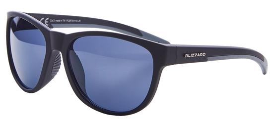 Obrázek z sluneční brýle BLIZZARD sun glasses PCSF701110, rubber black, 64-16-133