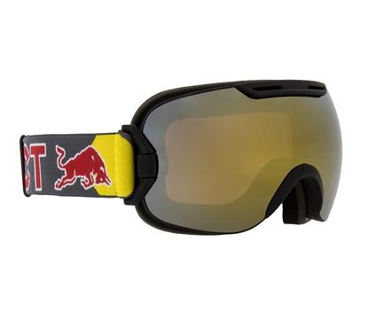 Obrázek lyžařské brýle RED BULL SPECT Goggles, SLOPE-001, matt black frame/grey headband, lens: gold snow CAT3