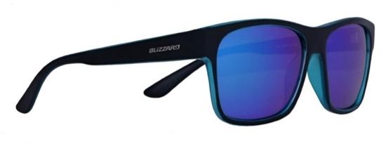 Obrázek z sluneční brýle BLIZZARD sun glasses PCSC802919, trans. purple mat/outside black mat, 64-17-143