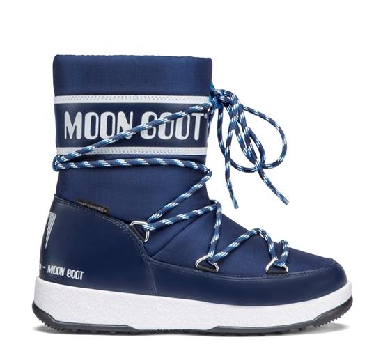Obrázek z boty MOON BOOT JR BOY SPORT WP, 002 blue navy/white