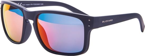 Obrázek z sluneční brýle BLIZZARD sun glasses PCSC606011, rubber black + gun decor points, 65-17-135