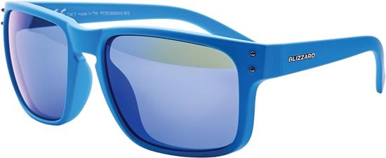 Obrázek z sluneční brýle BLIZZARD sun glasses PCSC606003, rubber blue + gun decor points, 65-17-135