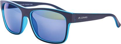 Obrázek sluneční brýle BLIZZARD sun glasses PCSC802115, trans. sky blue matt/outside black mat, 64-17-143