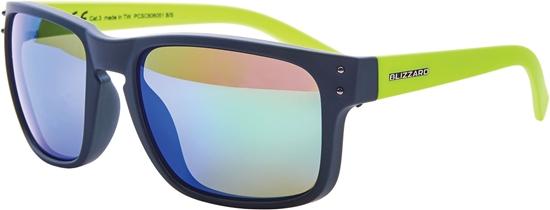 Obrázek z sluneční brýle BLIZZARD sun glasses PCSC606051, rubber dark green + gun decor points, 65-17-135
