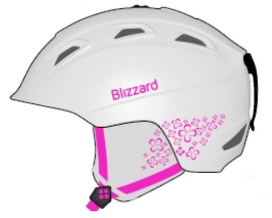 Obrázek z helma BLIZZARD Viva Demon ski helmet, white matt/magenta flowers