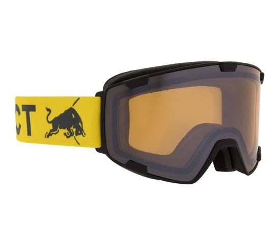 Obrázek z lyžařské brýle RED BULL SPECT Goggles, PARK-006, matt black frame/yellow headband, lens: cloudy snow CAT1