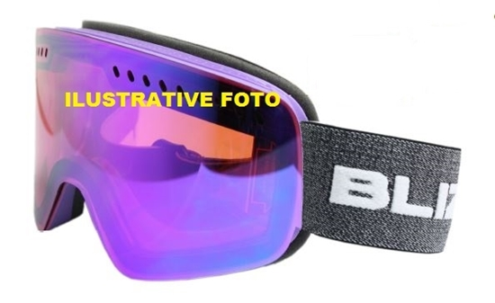 Obrázek z lyžařské brýle BLIZZARD BLIZ Ski Gog. 983 MDAVZO, white shiny, smoke2, blue REVO