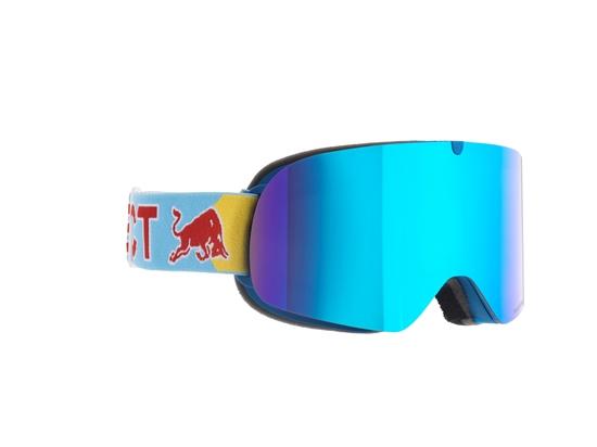 Obrázek z lyžařské brýle RED BULL SPECT Goggles, TRANXFORMER-003, matt bright blue frame/bright blue headband, lens: blue snow CAT3