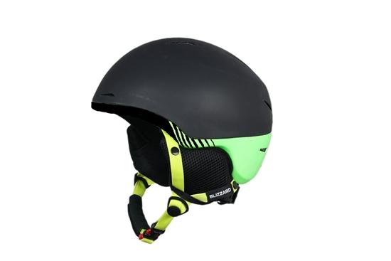 Obrázek z helma BLIZZARD Speed ski helmet, black matt/green matt