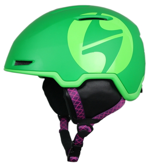 Obrázek z helma BLIZZARD Viper ski helmet junior, dark green matt/bright green matt