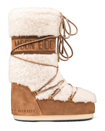 Obrázek z boty MOON BOOT WOOL, 001 sand/off white