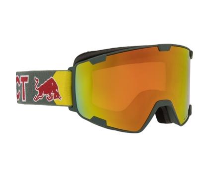 Obrázek lyžařské brýle RED BULL SPECT Goggles, PARK-002, matt olive green frame/olive green headband, lens: red snow CAT2
