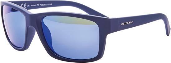 Obrázek z sluneční brýle BLIZZARD sun glasses PCSC602333, rubber dark blue, 67-17-135