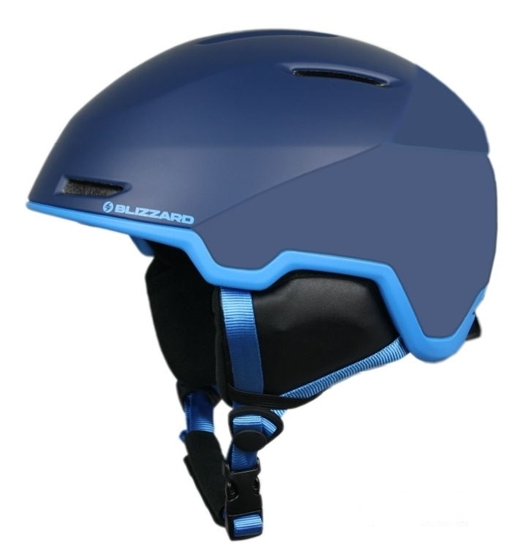 Obrázek z helma BLIZZARD Viper ski helmet, dark blue matt/bright blue matt
