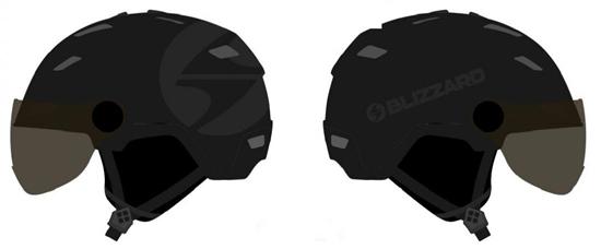 Obrázek z helma BLIZZARD Double Visor ski helmet, black matt, big logo, smoke lens, mirror
