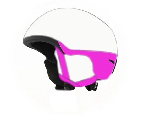 Obrázek z helma BLIZZARD Viva Speed ski helmet, white matt/black matt/pink matt