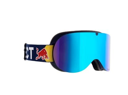 Obrázek lyžařské brýle RED BULL SPECT Goggles, BONNIE-003, shiny white frame/yellow headband, lens: silver snow CAT3