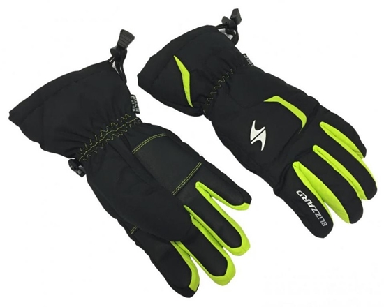 Obrázek z lyžařské rukavice BLIZZARD Reflex junior ski gloves, black/green
