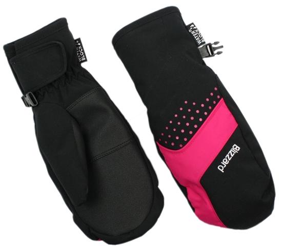 Obrázek z lyžařské rukavice BLIZZARD Mitten junior ski gloves, black/pink
