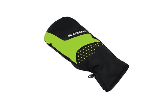 Obrázek z lyžařské rukavice BLIZZARD Mitten junior ski gloves, black/green